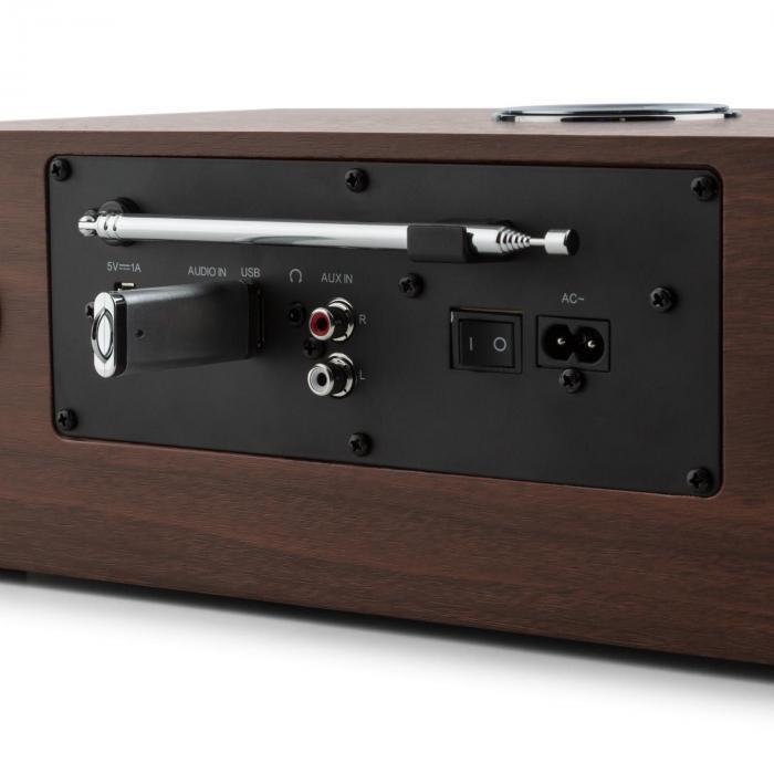 stanford dab cd radio dab bluetooth usb mp3 aux fm walnut. Black Bedroom Furniture Sets. Home Design Ideas