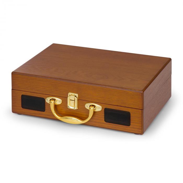 nostalgy by auna peggy sue retro plattenspieler lp usb aux holzoptik gold optik online kaufen. Black Bedroom Furniture Sets. Home Design Ideas