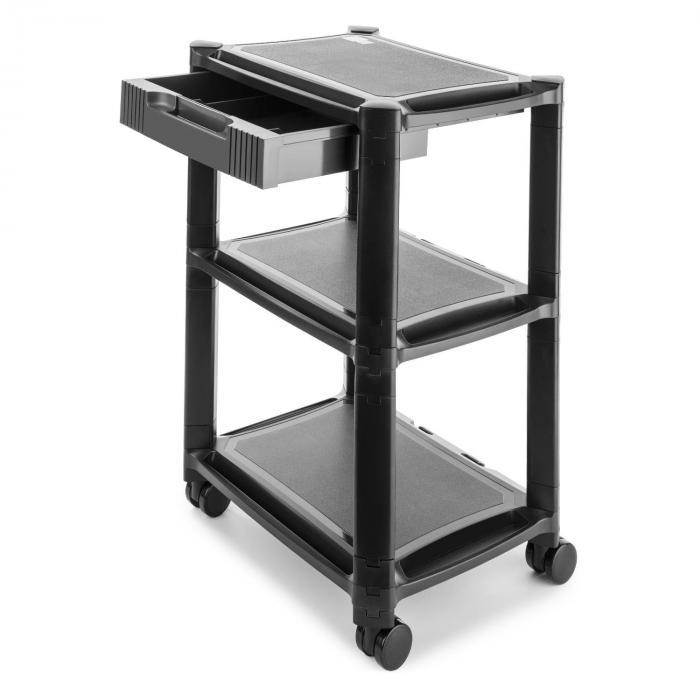 p stand table roulante 3 tages pour imprimante tiroir roues freins. Black Bedroom Furniture Sets. Home Design Ideas