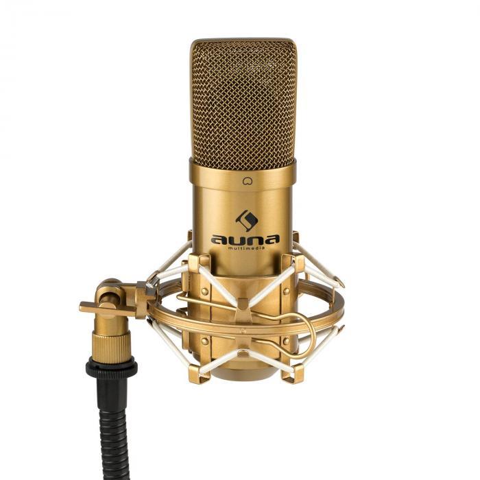mic 900g usb microphone set v3 condenser microphone microphone arm cardioid gold. Black Bedroom Furniture Sets. Home Design Ideas
