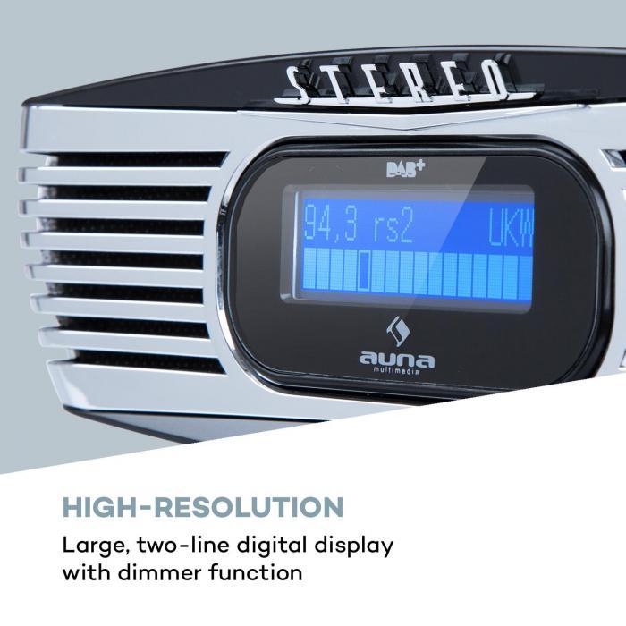 dreamee dab radiowecker mit cd player radio ukw fm dab empfang cd player cd cd r. Black Bedroom Furniture Sets. Home Design Ideas