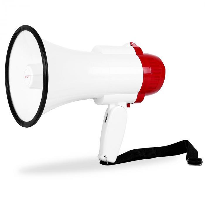 Mégaphone Porte Voix Sirène Enregistreur Portée M W Aunafr - Porte voix