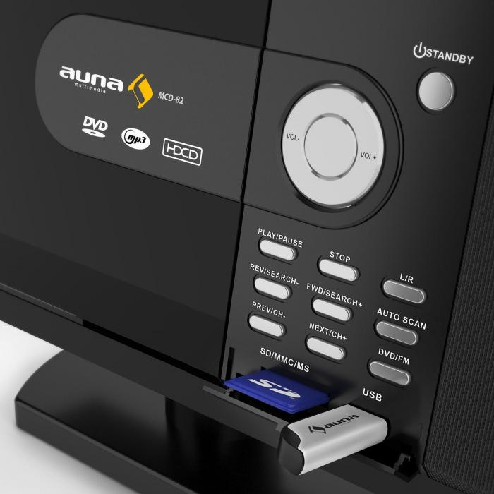 MCD-82 DVD-Player Stereoanlage USB SD MPEG4 Schwarz | online kaufen