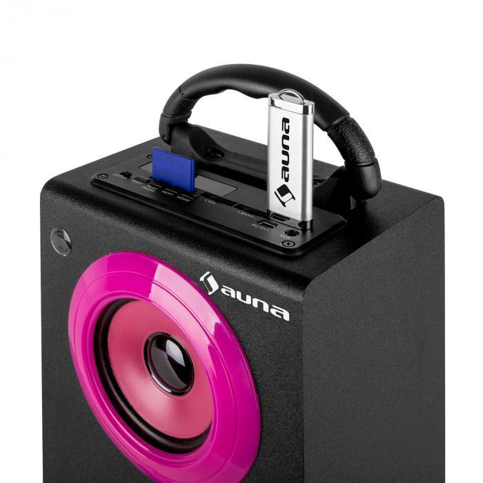 Beachgirl XXL Bluetooth Speaker Pink USB SD AUX FM Pink