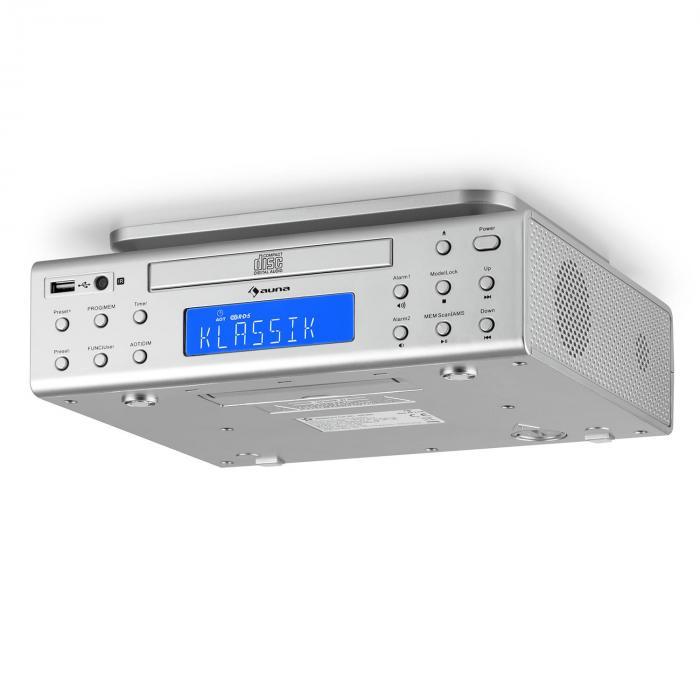 Kitchen Cabinet Radio Cd Player: KRCD-150 Kitchen Under-Counter Radio CD USB AUX FM RDS