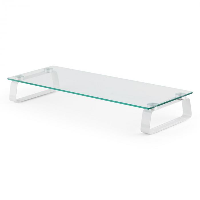 m riser tv board tv rack monitor stand 56x 8 x21 cm 20 kg glass purchase online. Black Bedroom Furniture Sets. Home Design Ideas