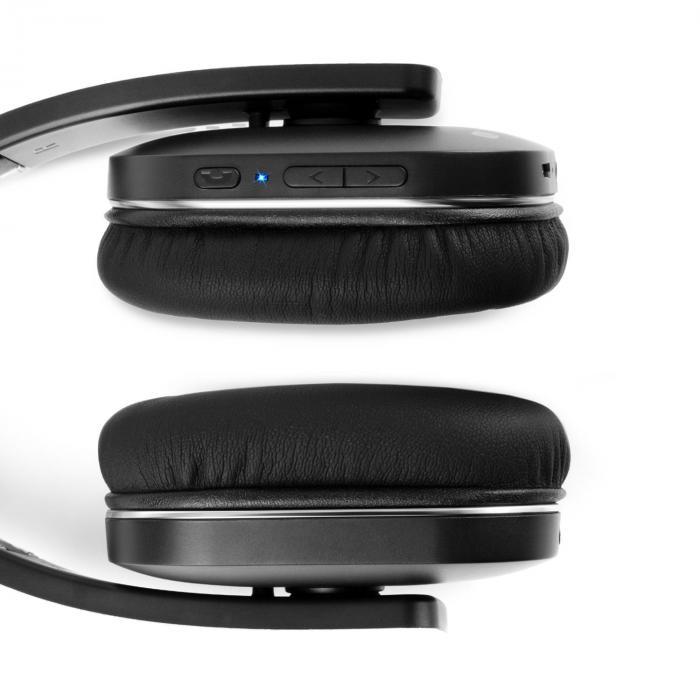 elegance casque bluetooth nfc aptx batterie mains libres simili cuir noir. Black Bedroom Furniture Sets. Home Design Ideas