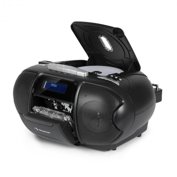 Beeboy dab boombox radio portable lecteur k7 usb cd mp3 fm - Lecteur cd pour voiture avec port usb ...