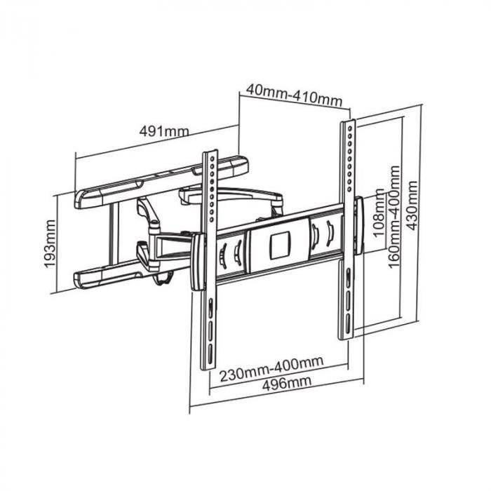 lda03-446 lcd tv wall mount bracket 26-47 u0026quot