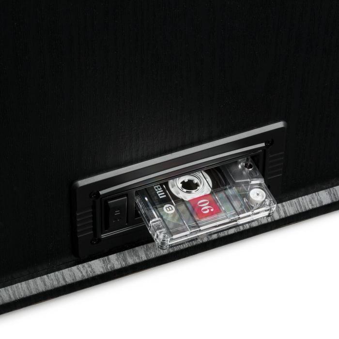 nr 620 cha ne hifi st r o tourne disque enregistrement mp3 en bois noir noir. Black Bedroom Furniture Sets. Home Design Ideas