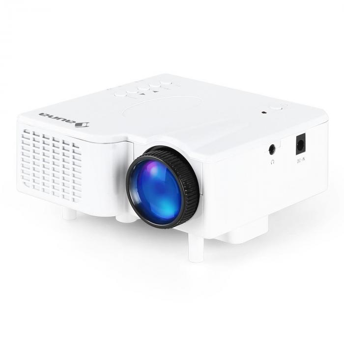 Led mini projector vga laptop beamer av white purchase for Small projector for laptop