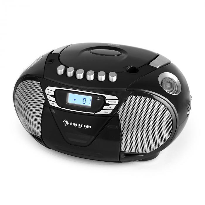 Krisskross lecteur cd k7 portable usb mp3 cd fm noir - Lecteur cd usb portable ...