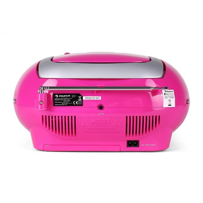 krisskross lecteur cd k7 portable usb mp3 cd fm rose rose. Black Bedroom Furniture Sets. Home Design Ideas