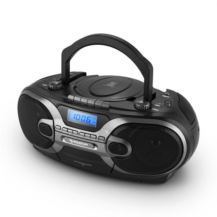 rcd 230 stereo portatile radio cd mp3 cassette sd usb am. Black Bedroom Furniture Sets. Home Design Ideas