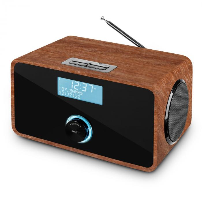 dabstep dab dab digital radio bluetooth rds fm alarm clock walnut walnut purchase online. Black Bedroom Furniture Sets. Home Design Ideas