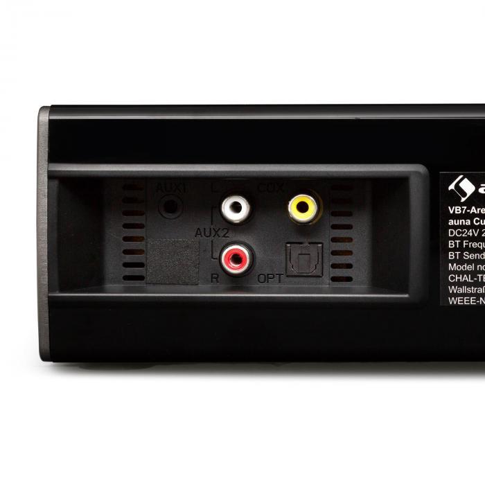 Areal Bar 330 Curved Bluetooth Soundbar Aux Coax Opt 40w Rms Black
