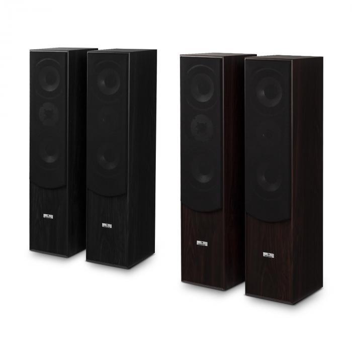 l766 3 wege bassreflex hifi boxen paar walnuss online kaufen. Black Bedroom Furniture Sets. Home Design Ideas