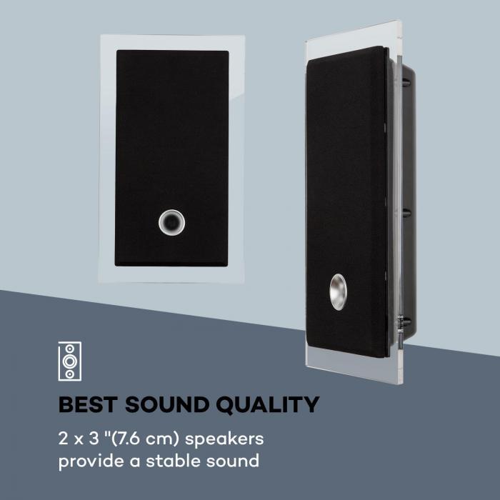 Stereosonic impianto stereo montaggio a parete lettore cd usb bt nero - Lettore cd da parete ...