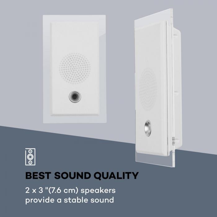 Stereosonic impianto stereo montaggio a parete lettore cd usb bt bianco - Lettore cd da parete ...