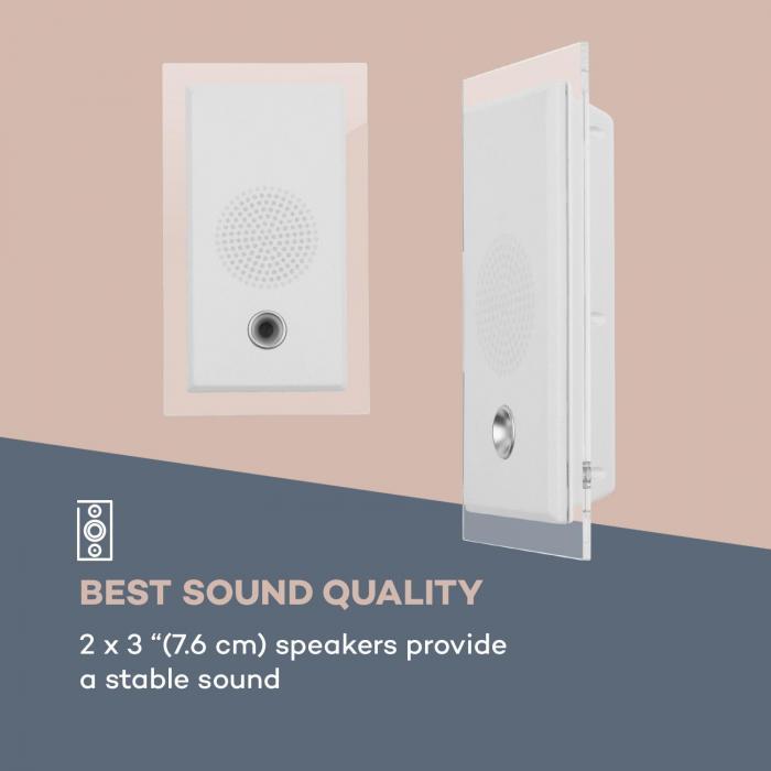 stereosonic syst me st r o lecteur cd usb mp3 aux bluetooth blanc blanc. Black Bedroom Furniture Sets. Home Design Ideas