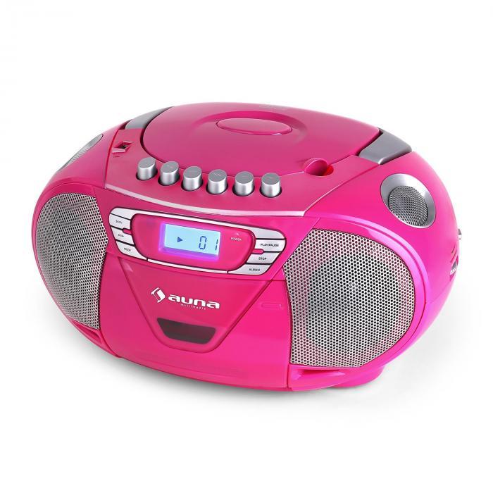 krisskross ghettoblaster usb mp3 cd fm portabel pink pink. Black Bedroom Furniture Sets. Home Design Ideas
