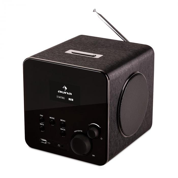 radio gaga internet radio wifi dab dab usb black. Black Bedroom Furniture Sets. Home Design Ideas