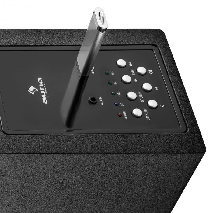 karaboom led bluetooth lautsprecher usb aux karaoke 2 x. Black Bedroom Furniture Sets. Home Design Ideas