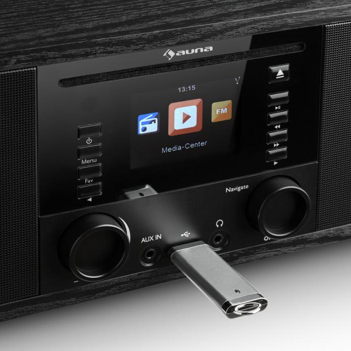 ir 190 internetradio cd player wifi upnp usb remote