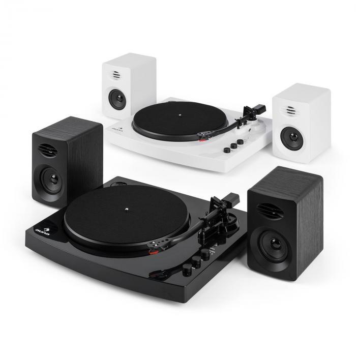 tt play platine vinyle 2 vitesses 2 enceintes st r o 3 10w interface noir. Black Bedroom Furniture Sets. Home Design Ideas