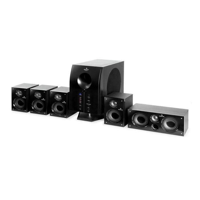areal 525 bk 5 1 surround sound active speaker system 125 w rms black purchase online. Black Bedroom Furniture Sets. Home Design Ideas