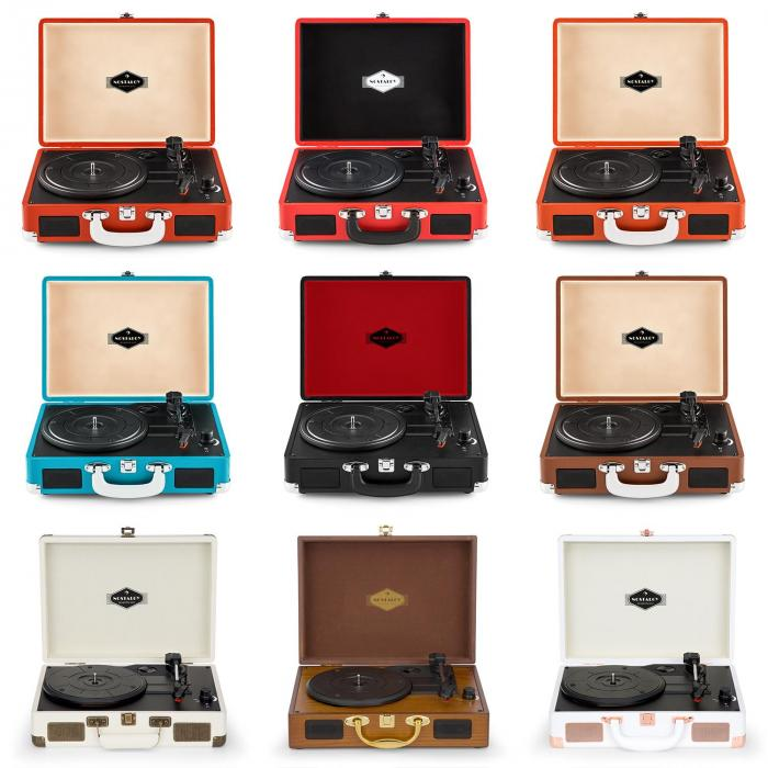 peggy sue platine vinyle portable design retro 2 haut. Black Bedroom Furniture Sets. Home Design Ideas