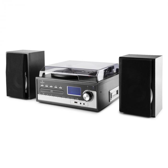 blackwood cha ne st r o tourne disque usb mp3 encodage cd k7 radio fm aux noir. Black Bedroom Furniture Sets. Home Design Ideas