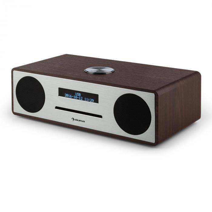 stanford radio lecteur cd dab dab bluetooth usb mp3 aux fm noisette noyer. Black Bedroom Furniture Sets. Home Design Ideas