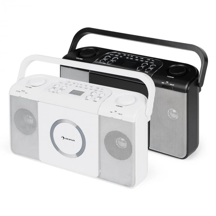boomtown usb poste radio fm et lecteur cd portable mp3. Black Bedroom Furniture Sets. Home Design Ideas