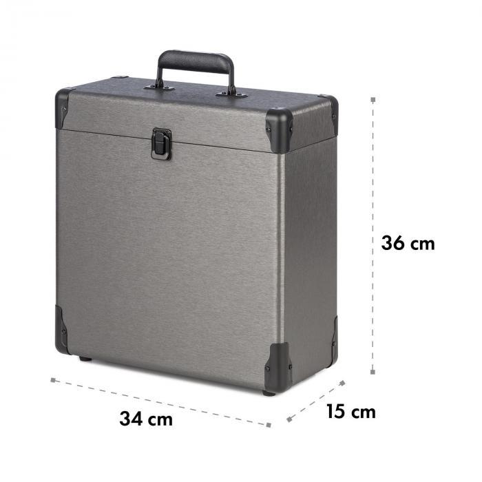 vinylbox alu plattenkoffer f r bis zu 30 schallplatten. Black Bedroom Furniture Sets. Home Design Ideas